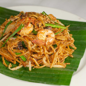 Penang Char Mee Noodle Side View